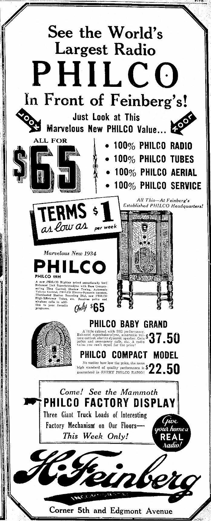 Philco Model 89  89b  Cathedral Radio  1933