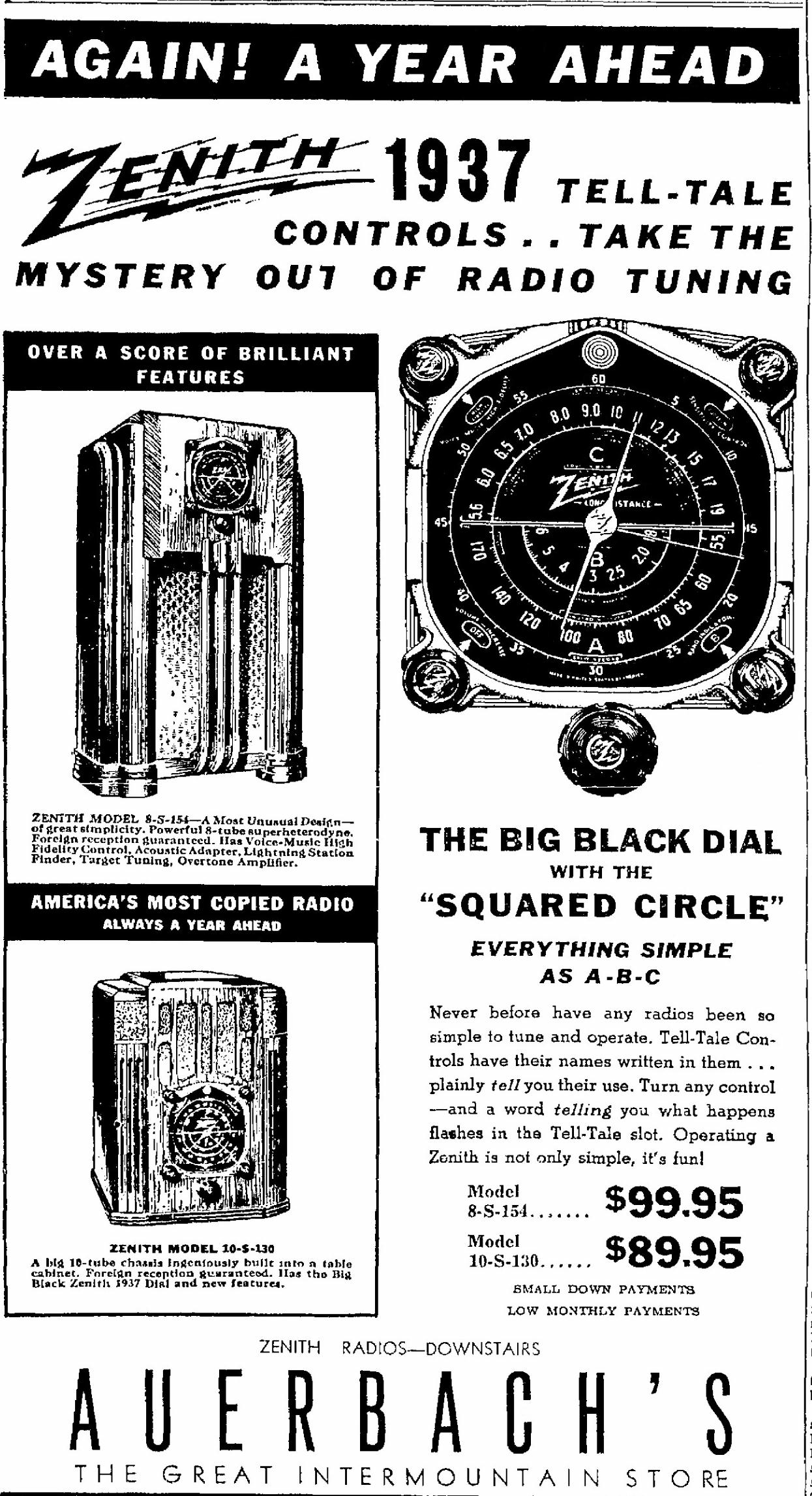 Zenith Model 10s130 Blackdial Tombstone Radio 1937. Oct 1936 Utah. Wiring. Zenith Tube Radio Schematics 1938 At Scoala.co