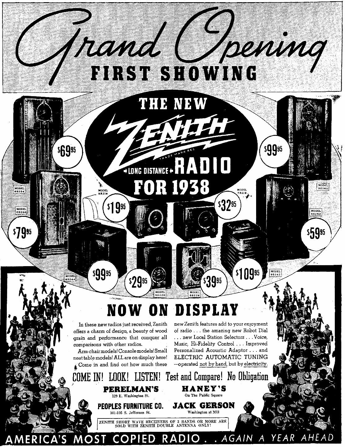 Zenith Model 6 S 229 6s229 Tombstone Radio 1938