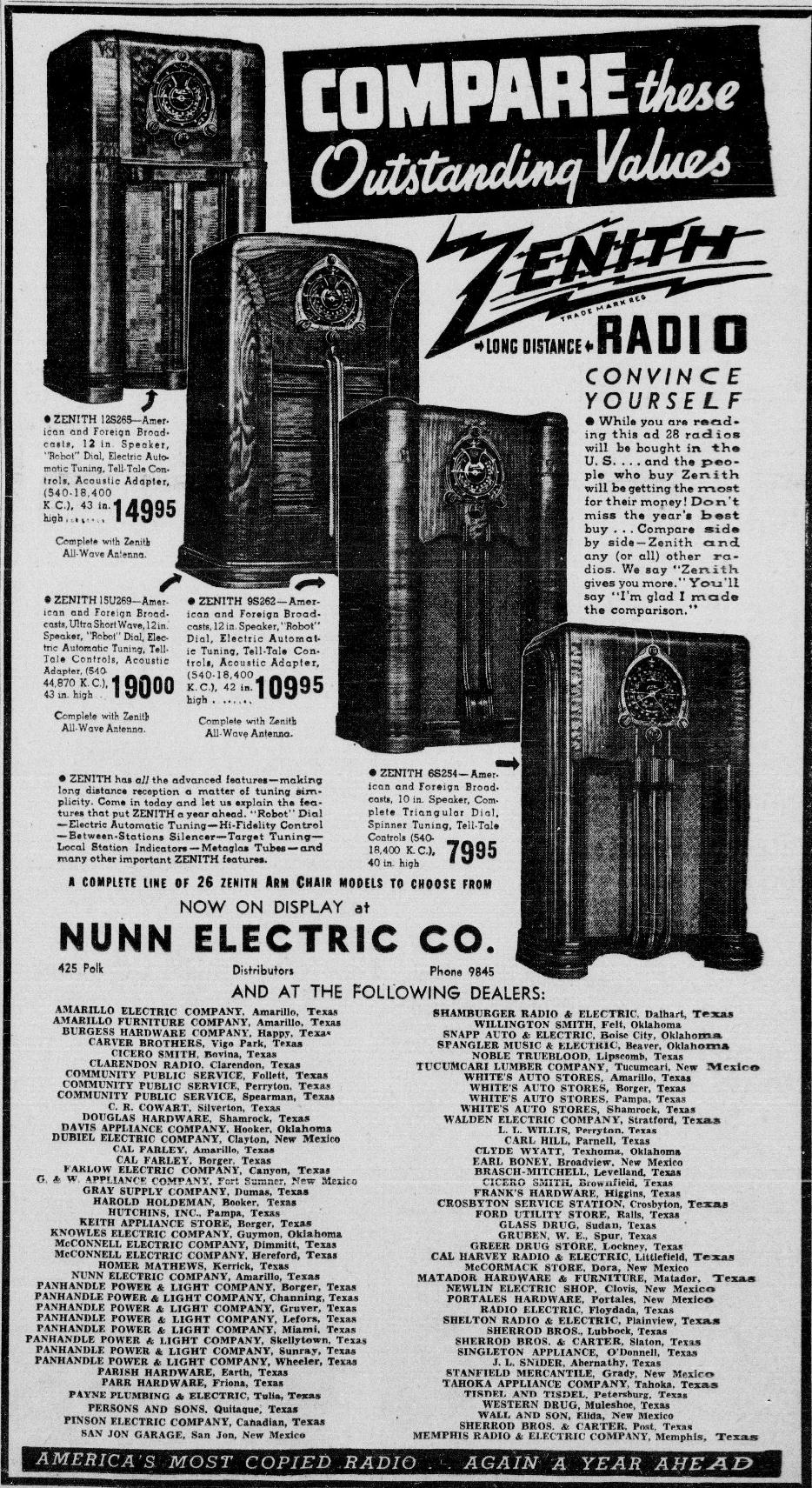 Zenith Model 6s254 Console Radio 1938. Sept 1937 Tx Eastern Pricing. Wiring. Zenith 8s154 Tube Radio Schematics At Scoala.co