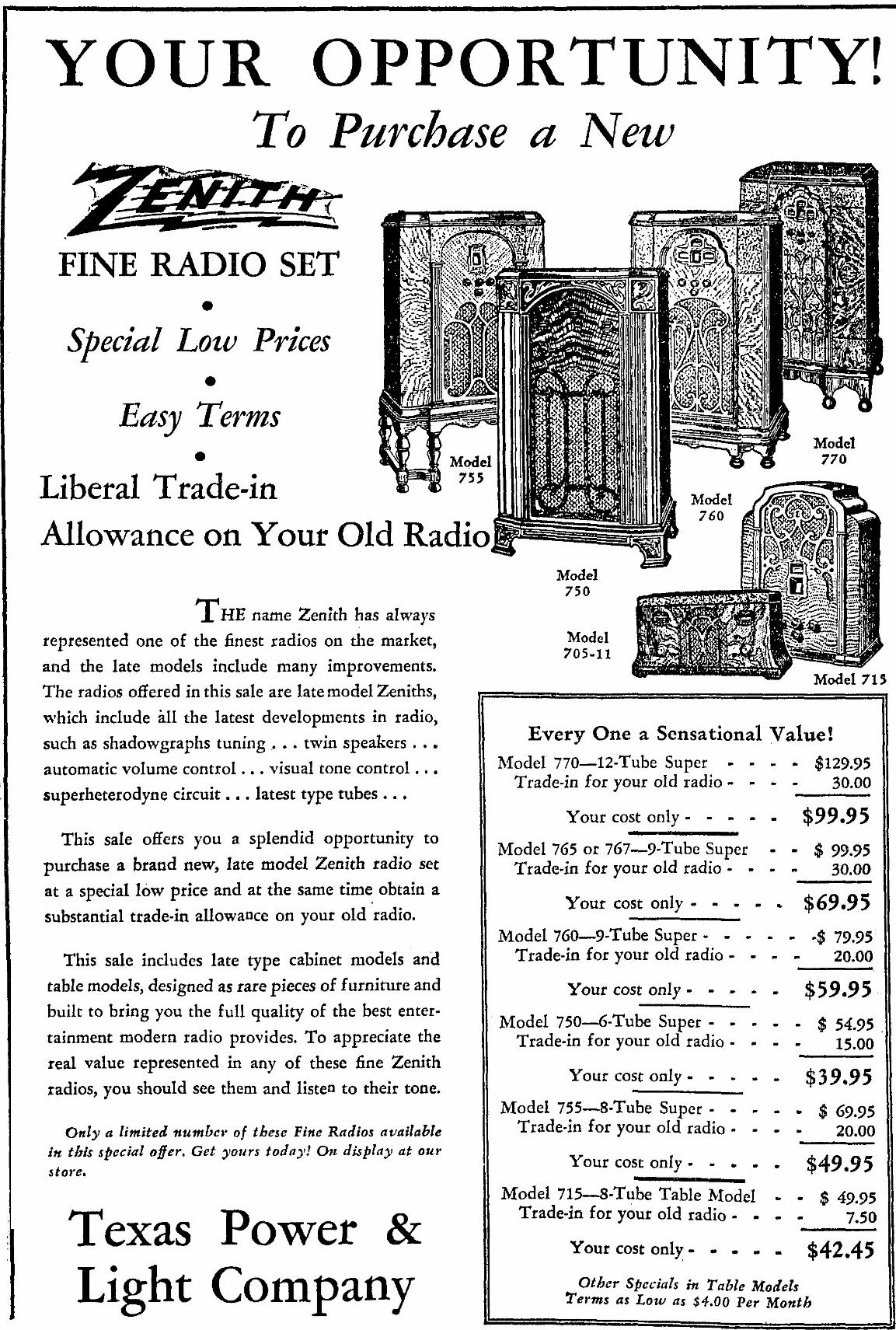 Zenith Model 715 Tombstone Tube Radio 1934. Oct 31st 1933 Ohio. Wiring. Zenith Tube Radio Schematics 39a At Scoala.co