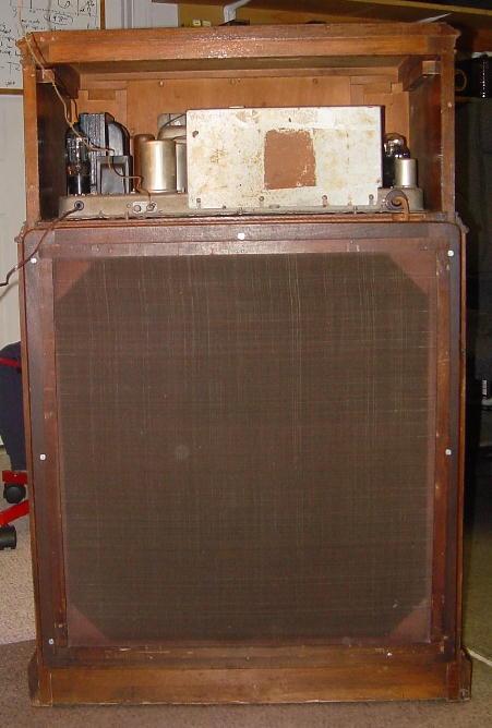 Philco Floor Radio Philco 112x Console Radio Rear