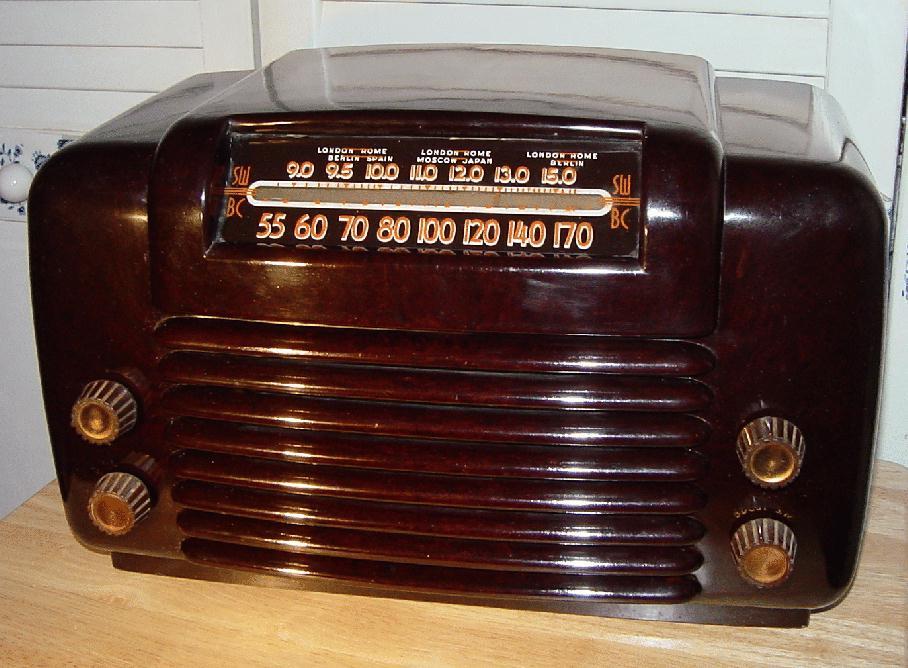 Philco Model 48 464 Brown Bakelite Table Radio