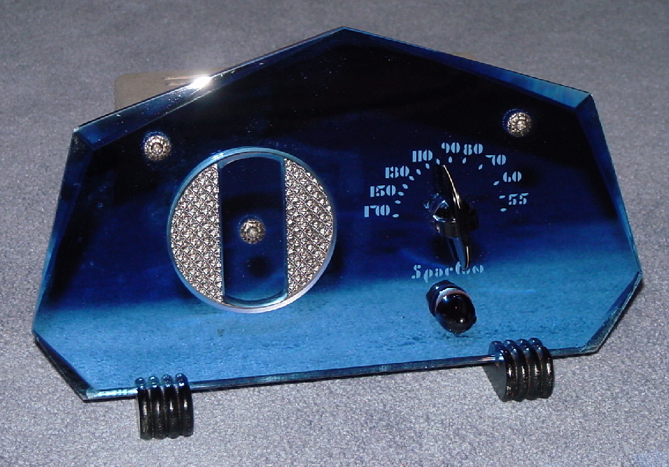 Sparton Model 409gl Seven Sided Blue And Peach Mirror