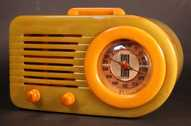 Fada 115 (Onyx with alabaster) Catalin Radio (1940)