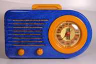 Fada 115 (Blue Lapis Lazuli with alabaster) Catalin Radio (1940)
