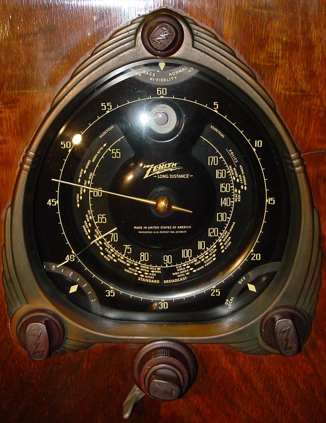 Zenith 12-S-267 (12S267) Shutter-Dial Floor Model Radio (1938)
