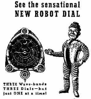 Advertising Graphic Used for Zenith's 1938 Robot Dial