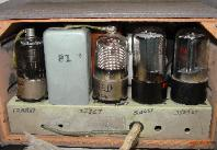 Rear view (cover removed) showing tube substitutions