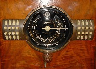 Zenith 9-S-367 Console Tube Radio Dial Close-Up (1939)